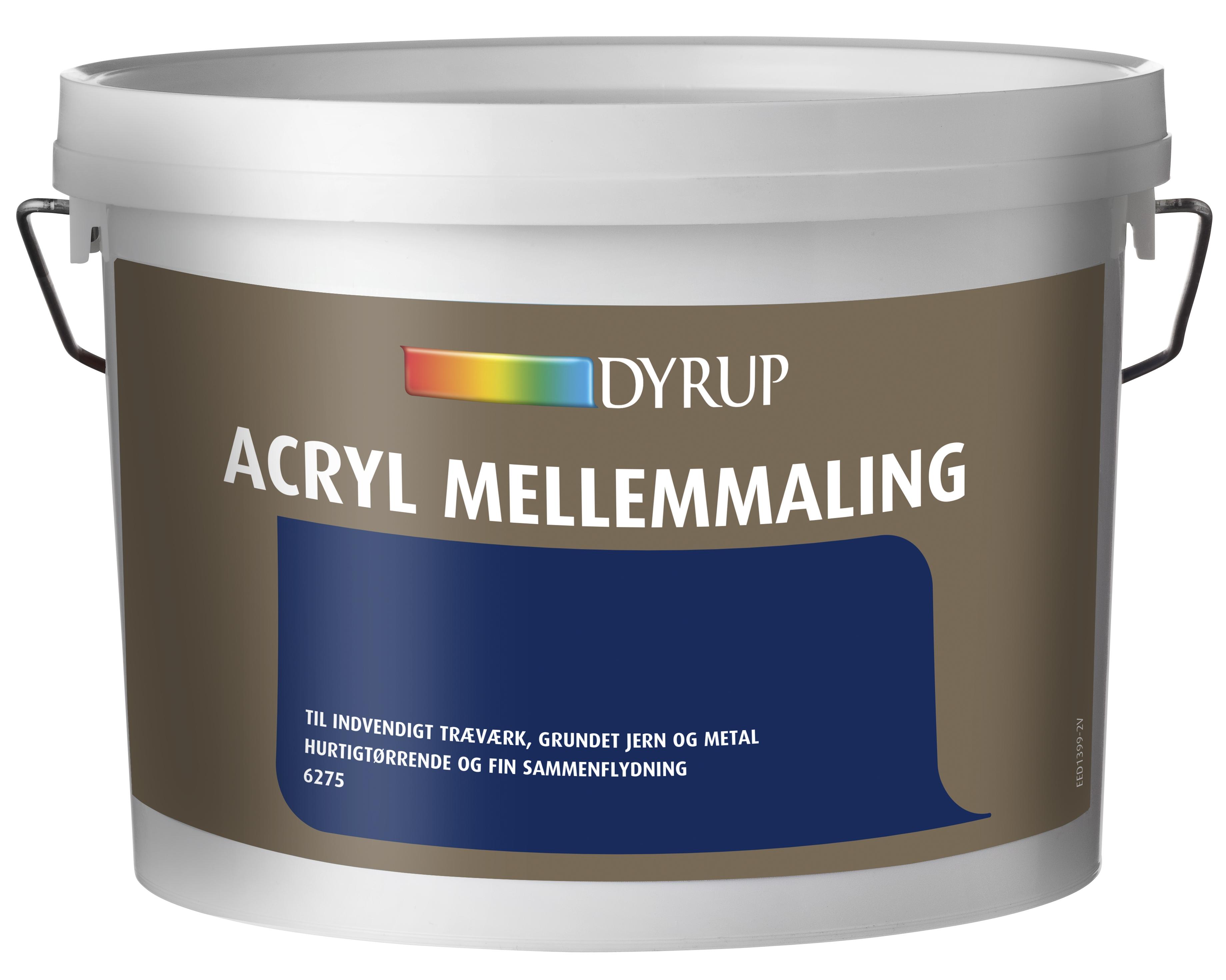Bestil Dyrup Acryl mellemmaling/grundmaling er. Op til 35% rabat