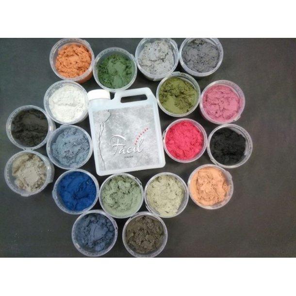 Unik Fácil Farvet Sandspartel, 10 ltr. + 1 ltr. topcoat/voks JN97